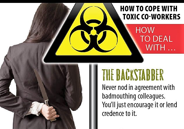 Backstabbers at work how to deal